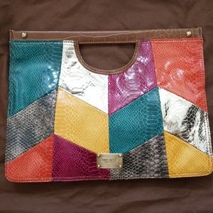 Nine west clutch bag multicolor